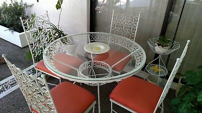 Umanoff Grenada/Salterini - Vintage Wrought Iron Patio Set Circa 1960's