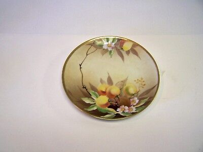 """Nippon """"M"""" in Wreath  Antique NIPPON Hand Painted Plate"""