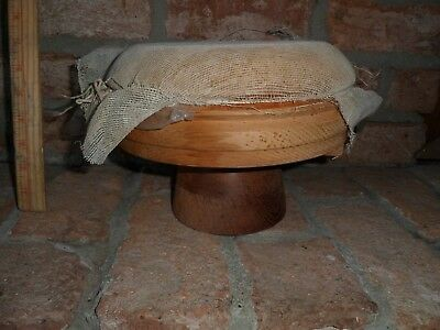 Vintage Wood Block Form -  Mold Haberdashery Millinery  Two parts