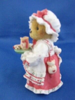 """Cherished Teddies """"holly"""" A Cup Of Homemade Love 1995 Christmas Figure"""