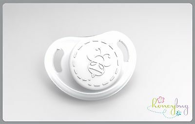 Honeybug MICRO preemie Magnetic Pacifier reborn doll Bitty Baby CLEAR white cap