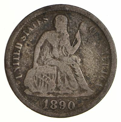 Historic 1890 Seated Liberty Dime *619