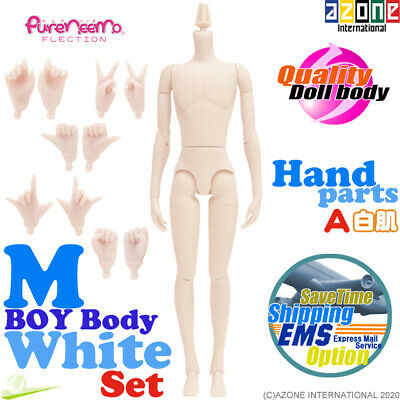 AZONE Pure Neemo FLECTION M Boy Body & Hand parts A set White Blythe Doll NEW