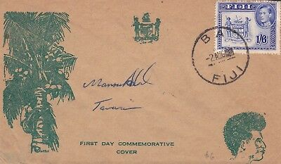 Fiji --cached FDC envelope - town of BA post mark and Tavua on back 1938-1955?