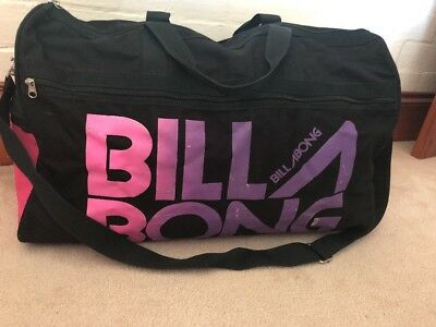 Billabong Large Travel Bag Pink/ Purple & Black