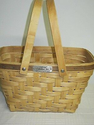 LONGABERGER COLLECTOR'S CLUB HEARTWOOD BASKET - authenticity  1995