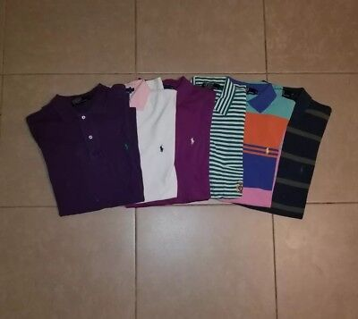 Lot of 6 Polo by Ralph Lauren Men's Polo Shirts in size M