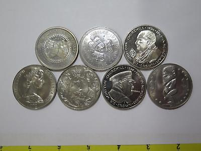 Great Britain Isle Of Man Cook Islands $1 25 Pence Crown Cn Coin Collection Lot