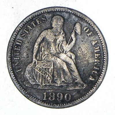 Full Liberty - 1890-S Seated Liberty Silver Dime *832