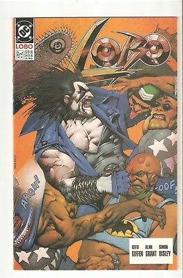 Lobo #2 (Dec 1990) signed by Keith Giffen (part 2 of 4 part miniseries)