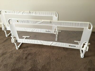 Vee Bee Fold Down Bed Guards x 2 white