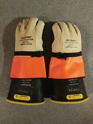 VOLTGARD VLP-314 Leather Protective Gloves Size 9-9 1/2 Length 14 Inches