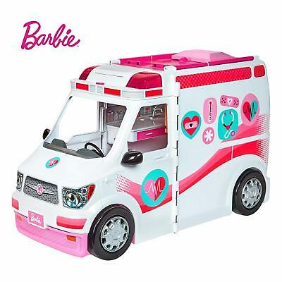 Barbie Care Clinic Ambulance Kids Pretend Play Toy Accessories Gift Vehicle Van
