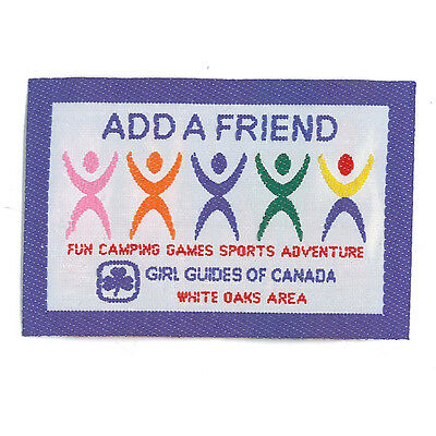 Girl Guide Scout Brownie BADGE PATCH – new! ~ Canada Add a Friend 3 inches