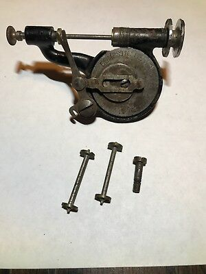 Antique Domestic Treadle Sewing Machine Long Bobbin Winder TESTED With 3 Bobbins