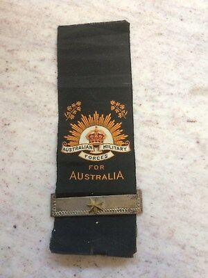 Wwi Memorial Ribbon With Lower Bar & Star