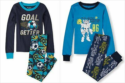 The Childrens Place Big Boys Glow in The Dark Themed Pajamas