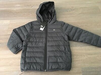 Boys Size 4 QUIKSILVER Black Scaly Boy  Puffer Coat / Jacket NEW RRP $89.99