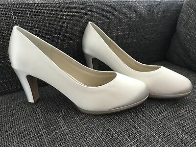 Brautschuhe Grace Rainbow Club Pumps High Heels Pure White Satin Hochzeit Gr 39