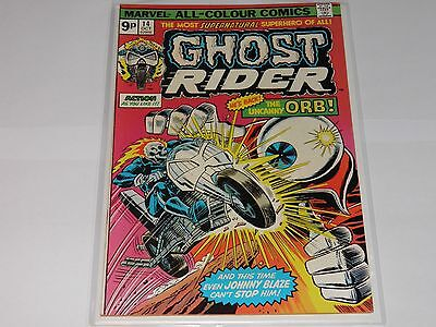 Marvel Ghost Rider 14 October 1975 Fine+ UK Price Variant