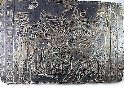 RARE ANCIENT EGYPTIAN ANTIQUE ISIS and OSIRIS and RAMSES II Stela 1658-1458 BC