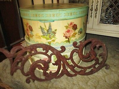 "Lovely 22"" Antique 1800's Heavy Victorian Cast Iron Architectural Salvage Piece"