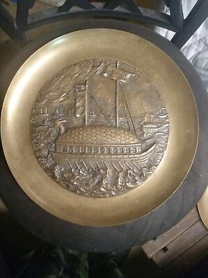 Brass/pewter Decorative Wall Hang Plate