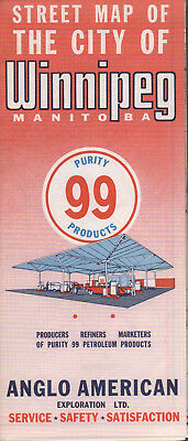 1961 Anglo American Purity 99 Road Map: Winnipeg NOS