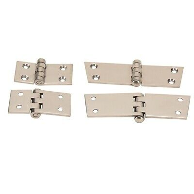 Speedway 1928-1929 Ford Model A Open Car Door Hinges, Stainless Steel, Set/4