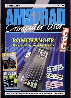 Amstrad Computer User / ACU Magazine - March 1989 - Excellent Condition - Bagged