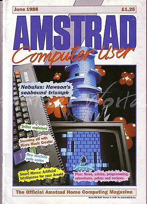 Amstrad Computer User / ACU Magazine - June 1988 - Very Good Condition - Bagged