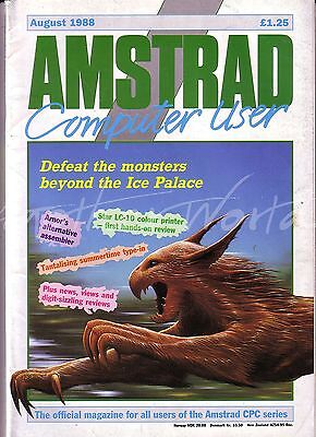 Amstrad Computer User / ACU Magazine - August 1988 - Very Good Condition Bagged
