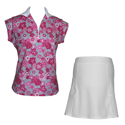 BNWT, Ladies Golf Outfit in Cherry Blossom & White, FREE SHIPPING!