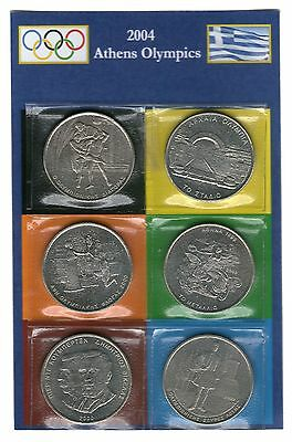 Greece 2000. Athens 2004 Olympics  500 drachma coin set of 6 coins KM #180