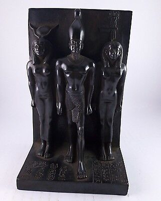 ANCIENT EGYPTIAN ANTIQUE ISIS and OSIRIS and NEPHTHYS Statue Stone 1525-1420 BC