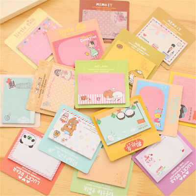 2pc Cute Cartoon Animal Sticky Note Memo Pad Notebook Label Stationery Gift DSUK