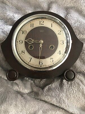 Antique - Smiths Enfield - Mantle Clock - Spares - Repair - NO Key