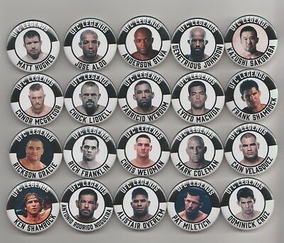 MMA LEGENDS BADGES  X 20  ( set 2 )  38mm IN SIZE