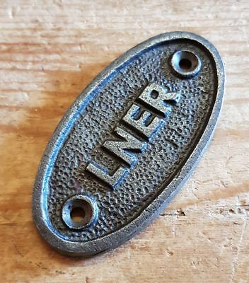 LNER Railway  - Cast Iron Vintage Style Oval Plaque - Door / Gate / Shed Sign