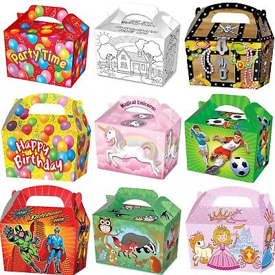 Party Boxes - Children Loot Bag - Food Treat Lunch Gift Box  - Choose Quantity