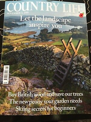 COUNTRY LIFE MAGAZINE 7th NOVEMBER 2018- SKIING, PEONIES, LANDSCAPES, WOOD