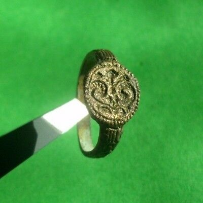 Superb Ancient Celtic Bronze Child Ring With Snakes  -  200/100 Bc