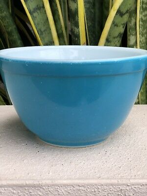 Vintage Pyrex Reverse Primary Blue 401 Mixing Bowl Mid Century Vtg Glass Dish