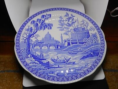 """SPODE BLUE ROOM COLLECTION PLATE(26.5cms diameter)""""ROME"""""""