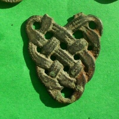 Authentic Viking Medieval Silvered Bronze Runic Amulet - 800 Ad - Wearable