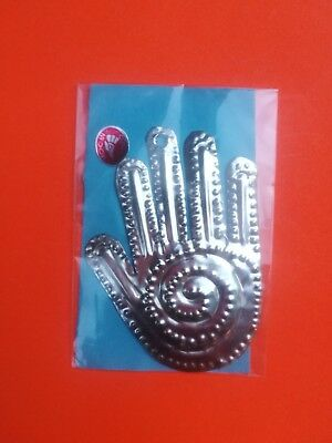 Authentic Mexican Natural Tin Folk Art Hand Milagro