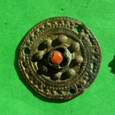 Ancient Celtic Bronze Solar Decoration Amulet  - 200/100 Bc - Wearable