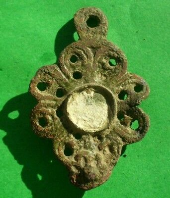Ancient Celtic Bronze Solar Amulet Decoration - 200/100 Bc