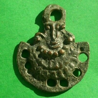 Ancient Celtic Bronze  Amulet Decoration - 400/300 Bc - Wearable
