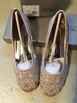 BADGLEY MISCHKA Girls Gigi Gems Slip On Ballet Flats, Light Gold, Size 2 kids,